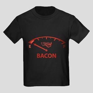 Running On Empty : Bacon Kids Dark T-Shirt