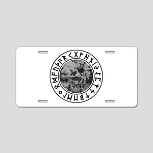Thor Rune Shield Aluminum License Plate