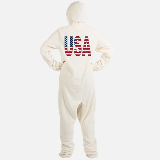 USA flag Footed Pajamas