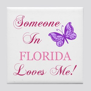 Florida State (Butterfly) Tile Coaster