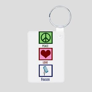 Peace Love Frasier Aluminum Photo Keychain