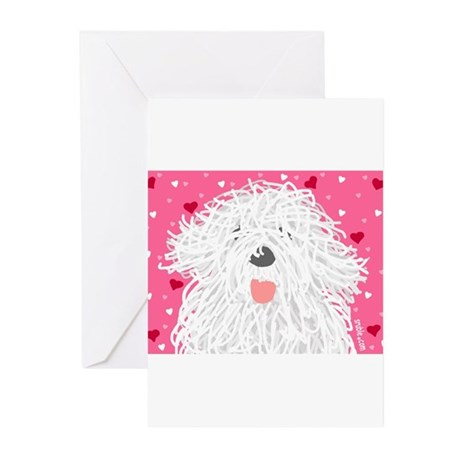 Heart Sheepdog Greeting Cards (Pk of 10)