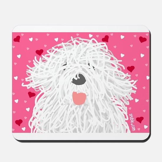 Heart Sheepdog Mousepad