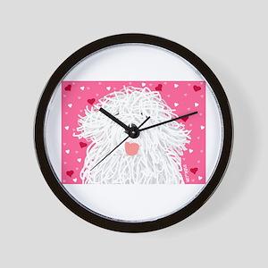 Heart Sheepdog Wall Clock