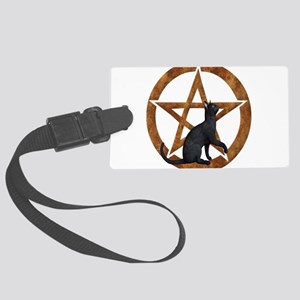 Pentacle with Cat Large Luggage Tag