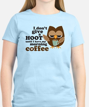 Morning Coffee Owl T-Shirt