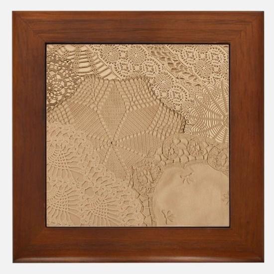 Lace panel Framed Tile