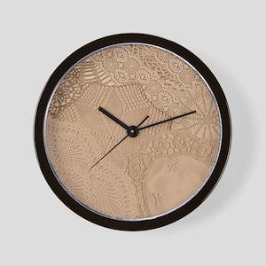 Lace panel Wall Clock