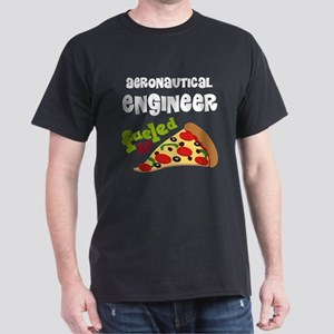 Aeronautical engineer Fueled By Pizza Dark T-Shirt