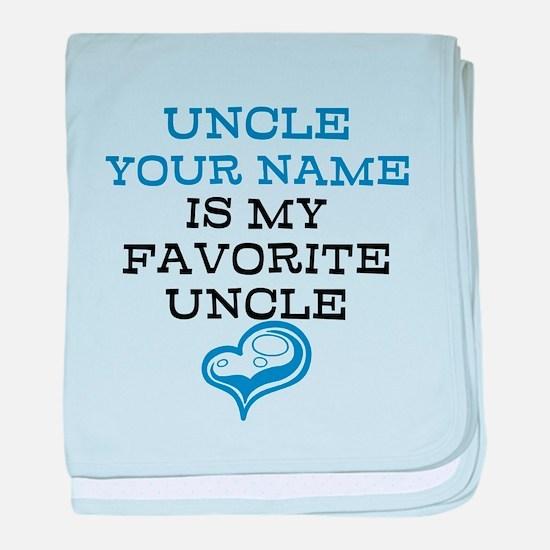 Favorite Uncle baby blanket