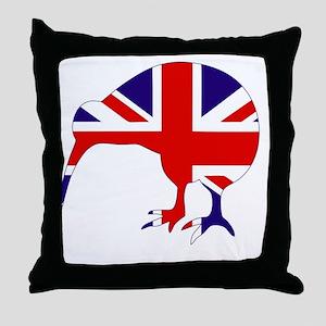 New Zealand Kiwi Throw Pillow
