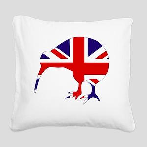 New Zealand Kiwi Square Canvas Pillow