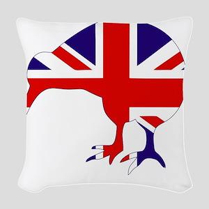 New Zealand Kiwi Woven Throw Pillow