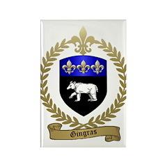 GINGRAS Family Crest Rectangle Magnet (100 pack)