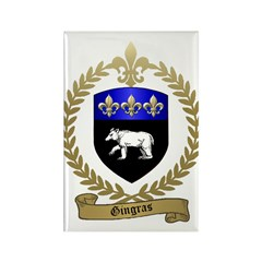 GINGRAS Family Crest Rectangle Magnet (10 pack)