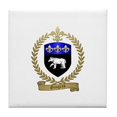 GINGRAS Family Crest Tile Coaster