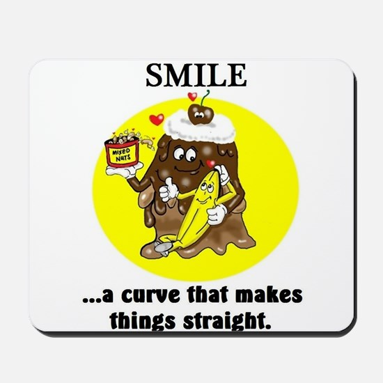 SMILE CARTOON QUOTE Mousepad