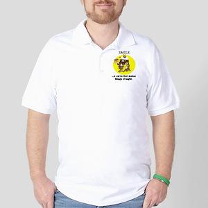 SMILE CARTOON QUOTE Golf Shirt