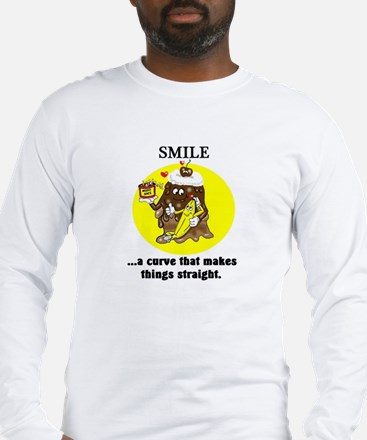 SMILE CARTOON QUOTE Long Sleeve T-Shirt