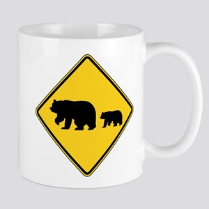 Migrating Bears Sign Mugs