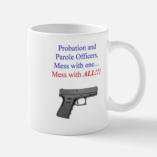 Mess with one, mess with all Mug