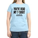 You've Read My T-Shirt Funny Women's Light T-Shirt