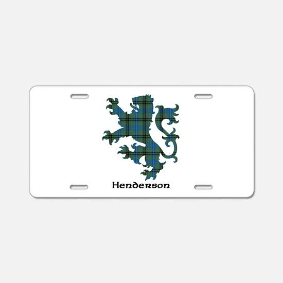 Lion - Henderson Aluminum License Plate