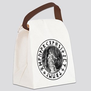 Freya Rune Shield Canvas Lunch Bag