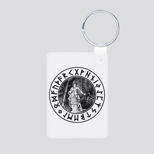 Freya Rune Shield Aluminum Photo Keychain