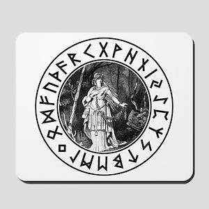 Freya Rune Shield Mousepad