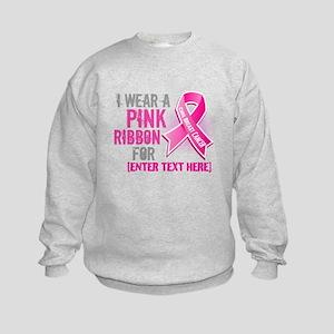 Personalized Breast Cancer Custom Kids Sweatshirt
