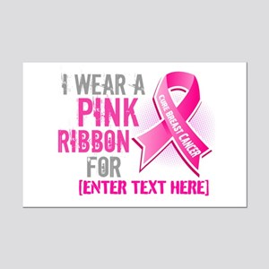 Personalized Breast Cancer Custom Mini Poster Prin