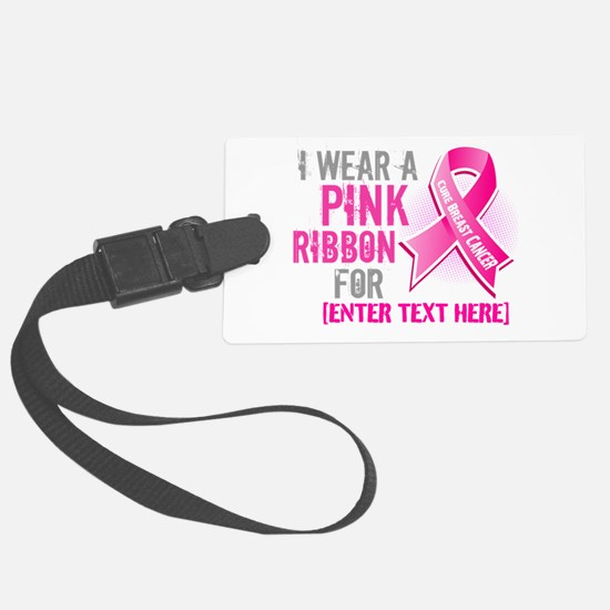 Personalized Breast Cancer Custom Luggage Tag