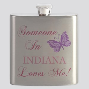 Indiana State (Butterfly) Flask
