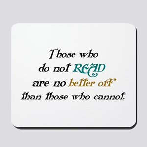 Importance Of Reading Mousepad