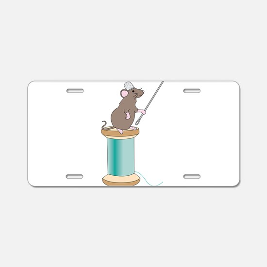 Mouse Sewing Aluminum License Plate