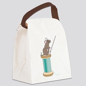 Mouse Sewing Canvas Lunch Bag