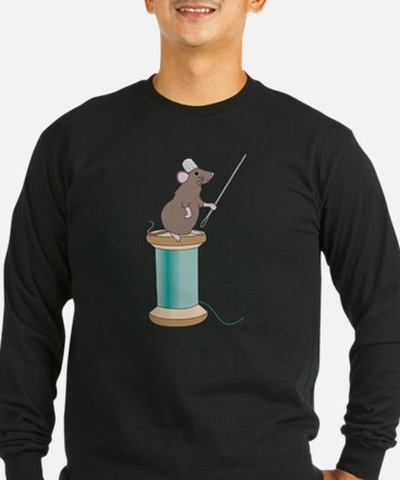 Mouse Sewing Long Sleeve T-Shirt