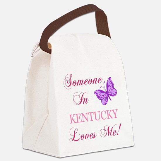Kentucky State (Butterfly) Canvas Lunch Bag