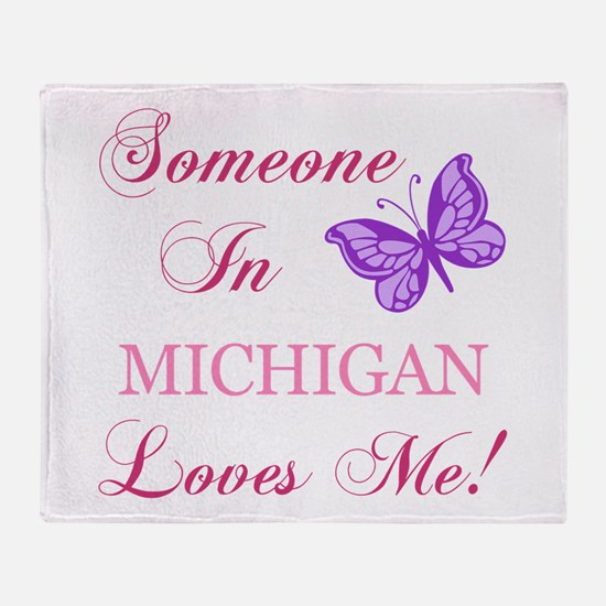 Michigan State (Butterfly) Throw Blanket