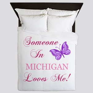 Michigan State (Butterfly) Queen Duvet