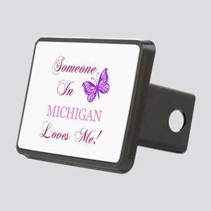 Michigan State (Butterfly) Rectangular Hitch Cover