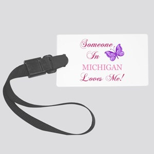 Michigan State (Butterfly) Large Luggage Tag