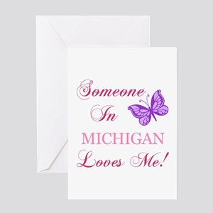 Michigan greeting cards cafepress michigan state butterfly greeting card m4hsunfo Images