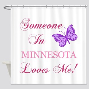 Minnesota State (Butterfly) Shower Curtain