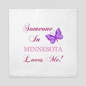 Minnesota State (Butterfly) Queen Duvet