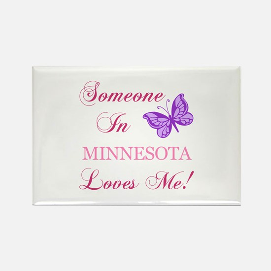 Minnesota State (Butterfly) Rectangle Magnet