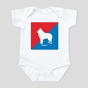 Schipperke Diagonal Infant Bodysuit