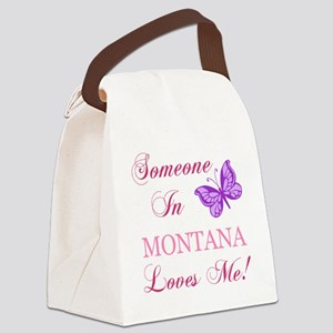 Montana State (Butterfly) Canvas Lunch Bag