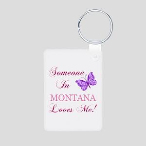 Montana State (Butterfly) Aluminum Photo Keychain